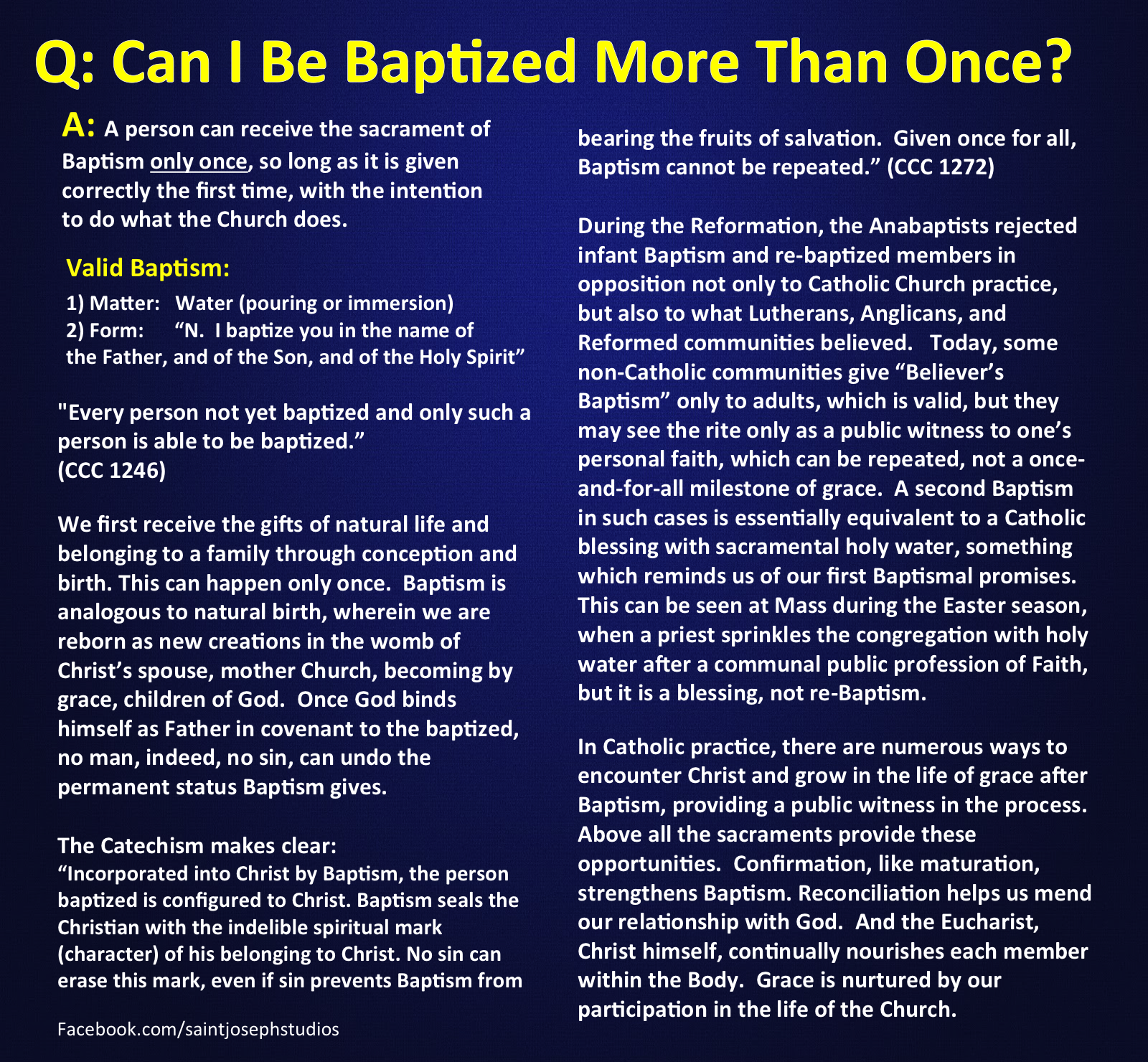 Can You Be Baptized More Than Once  Catholic Sacraments -8829
