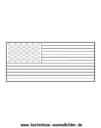 Ausmalbild Fahne Flagge Usa Usa Flagge Ausmalbild Ausmalen