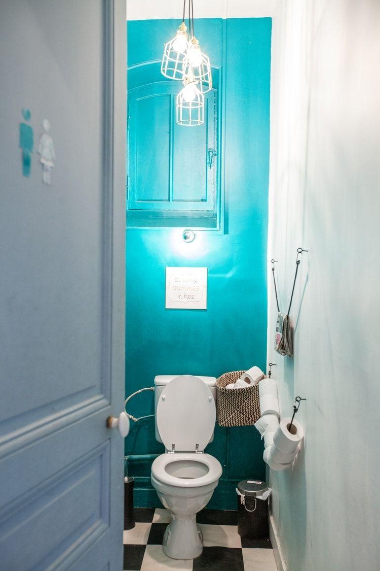 Salle De Bain Chocolat Turquoise des toilettes turquoise | toilettes, wc decoration, deco