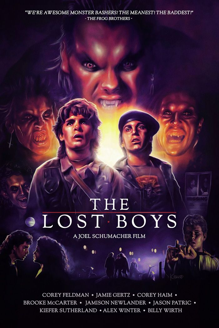 Krause Lostboys Jpg 700 1049 Boys Posters Classic Horror Movies Lost Boys Movie