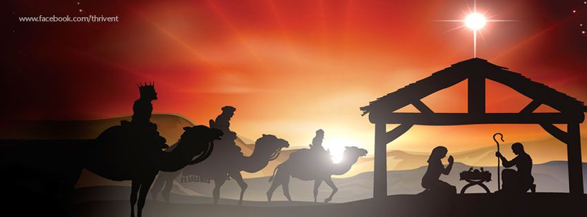 Nativity Christmas Facebook cover photo #christmascoverphotosfacebook
