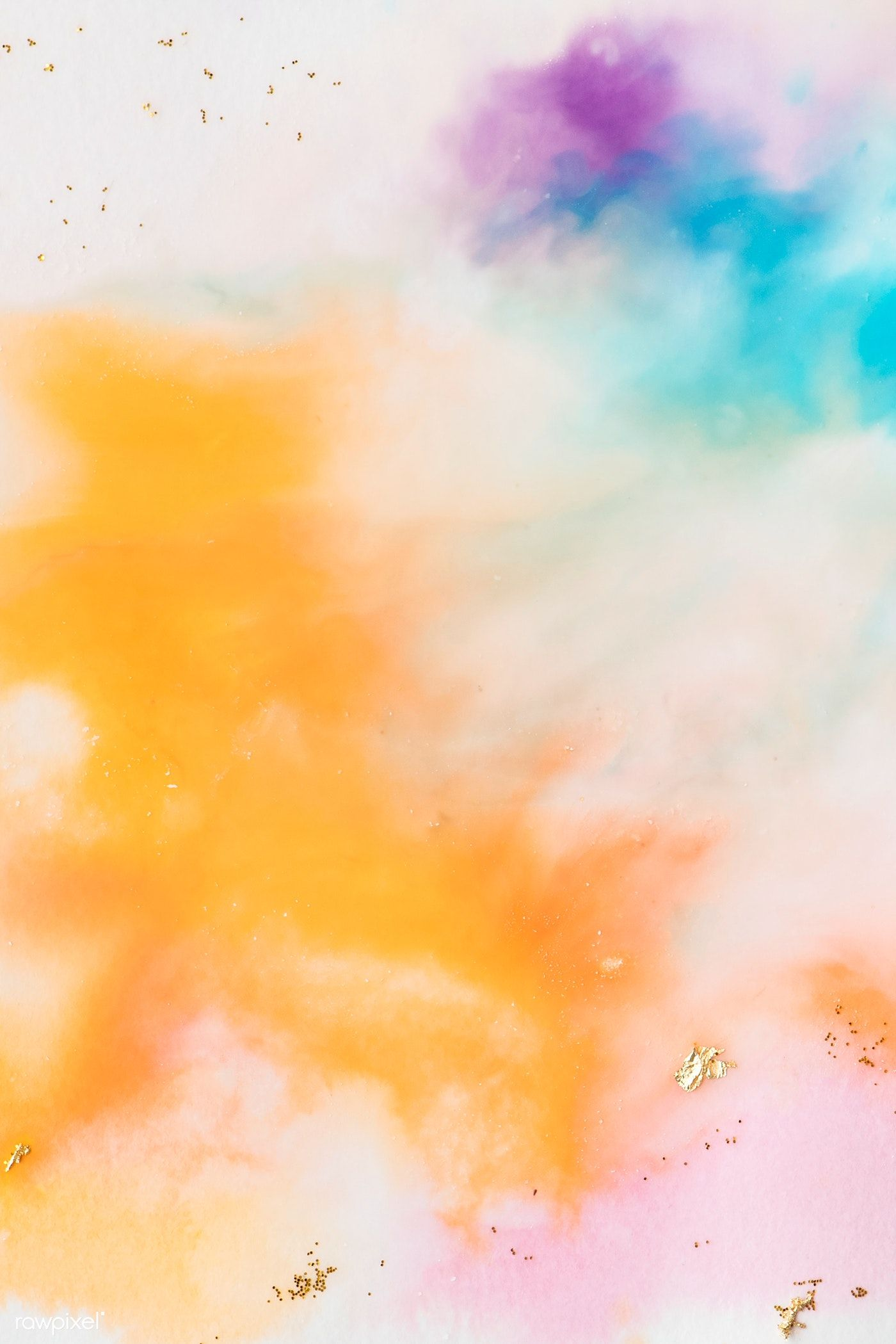 Multicolor Watercolor Splash Background Illustration Vector 05