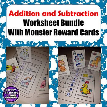 If your students enjoy collecting monster reward cards, they will love practicing their basic addition and subtraction facts on these 18 different worksheets while earning a different monster card each time. The worksheets come in either color or ready to be colored and there is an included answer sheet.