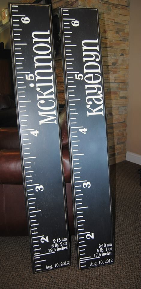 Diy Height Boards Height Rulers Diy And Crafts