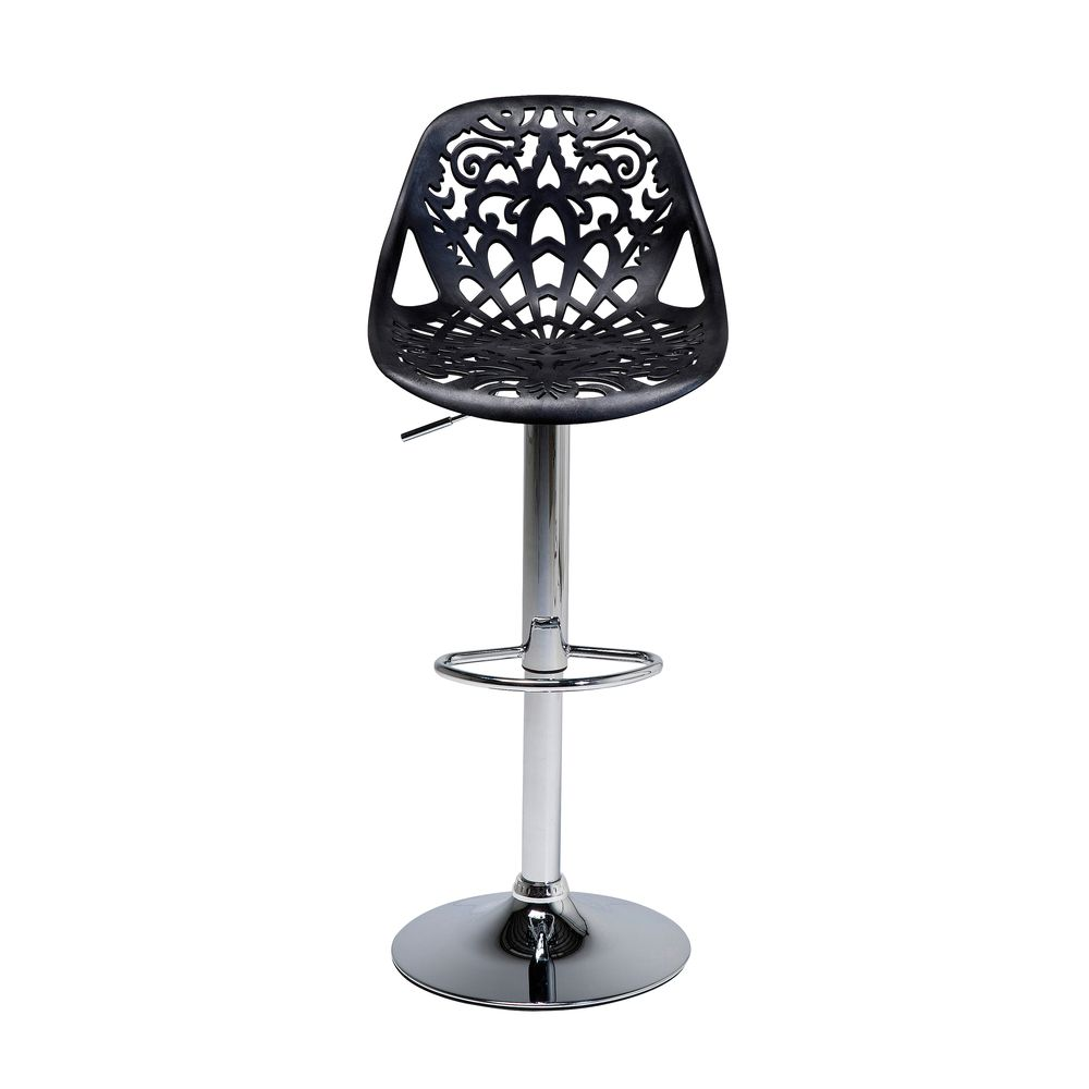 Fine Dwell Filigree Bar Stool Black Retro Bar Stools Gothic Caraccident5 Cool Chair Designs And Ideas Caraccident5Info