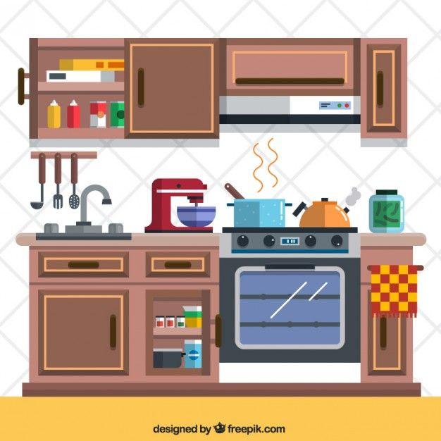 Baixe Cozinha Com Elementos Gratuitamente Interior De Cozinha