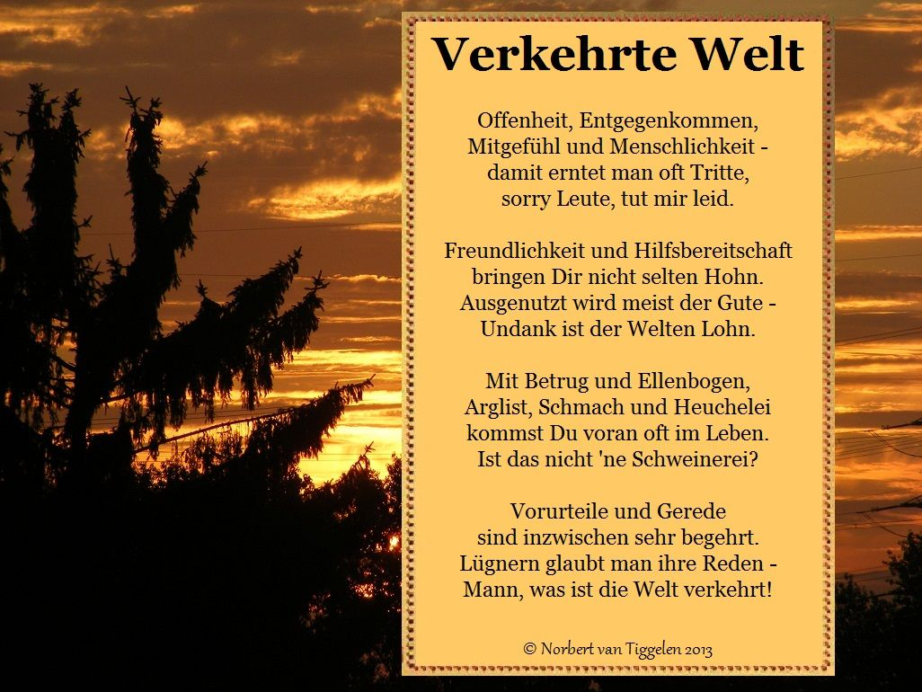 Pin auf (B) Gedichte und Sinnsprüche van Tiggelen