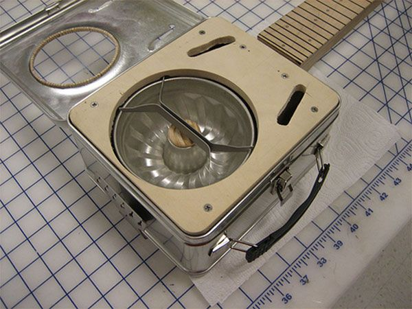 Bundt Pan Resonator For A Guitar