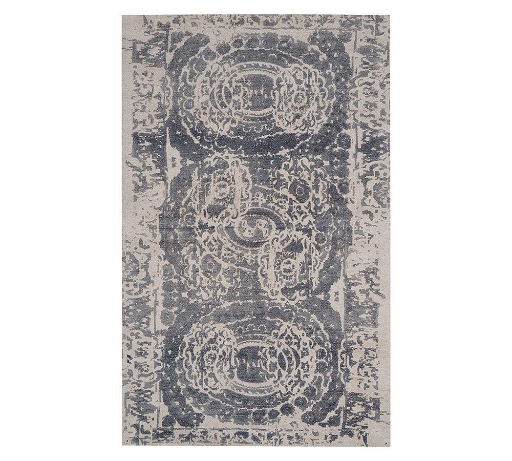 Bosworth Printed Wool Rug 9x12 Gray At Pottery Barn