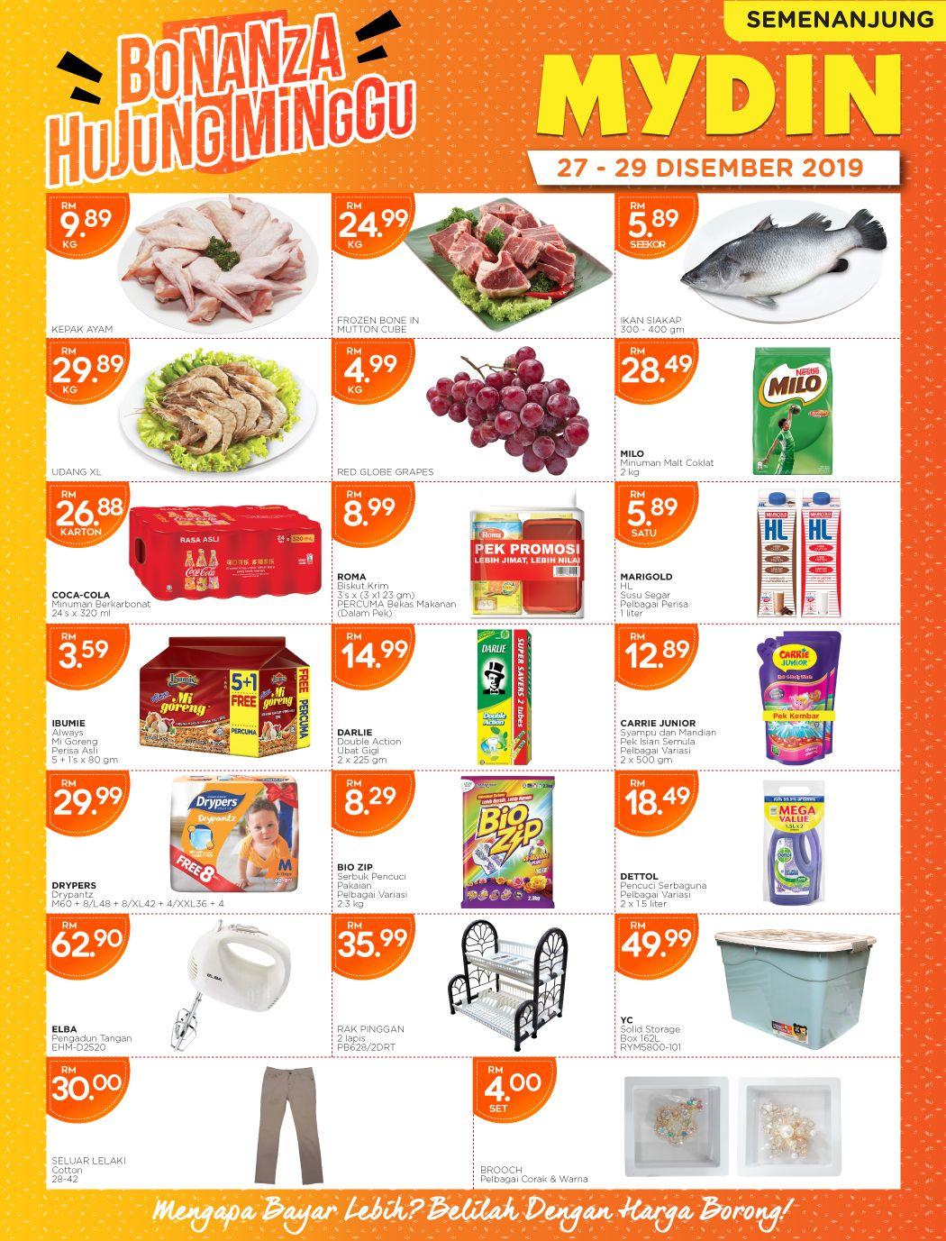 Mydin Weekend Promotion 27 Dec 2019 29 Dec 2019 December Promotion Food
