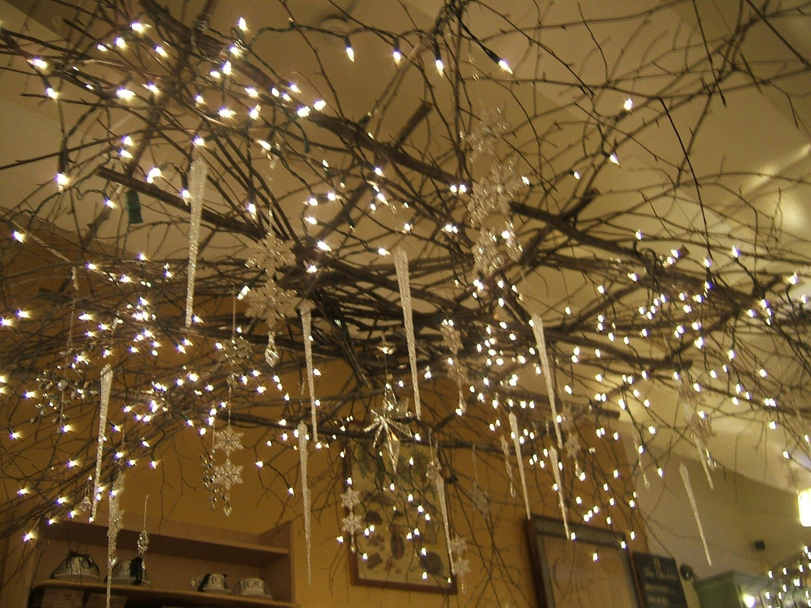 Twig Decorations twig chandelier - google search   at home   pinterest   twig