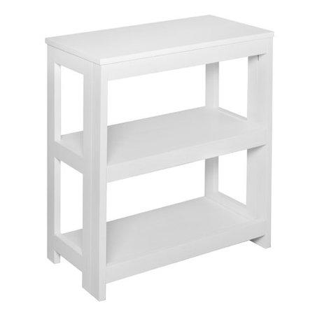 Flip Flop 28 Inch High Folding Bookcase White Brown