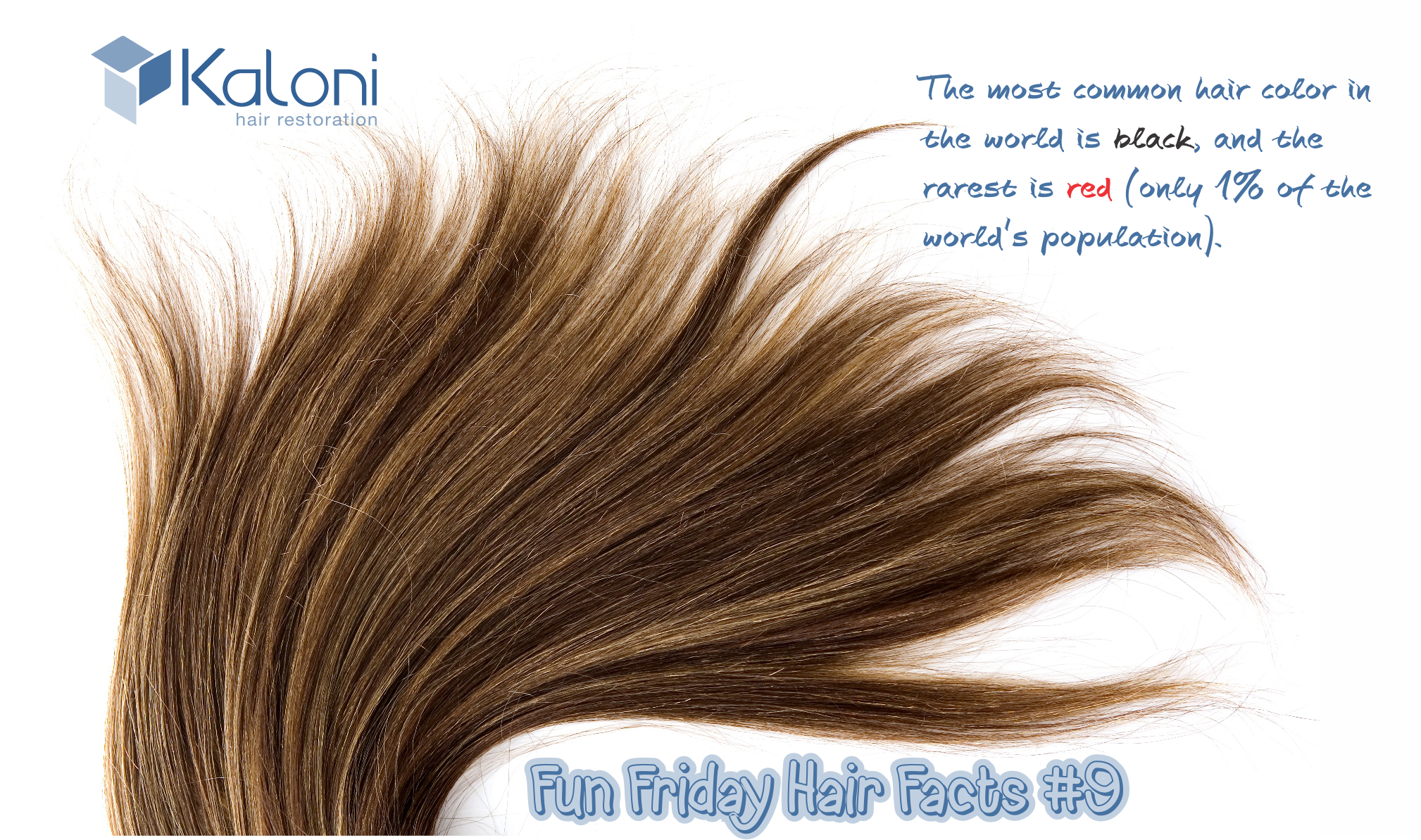Fun Friday Hair Fact #9 The most common hair color in the