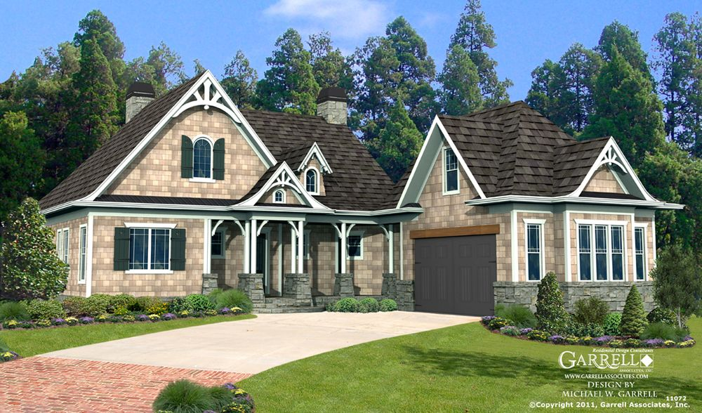 Garrell associates inc cherokee cottage house plan 11072 front elevation craftsman style - Mountain house plans dreamy holiday homes ...