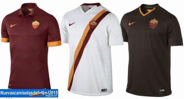Nuevas camisetas de futbol 2014 2015 2016  Camiseta Serie A 2014 2015: Camiseta ROMA Nike 2014 2015 c34202bb581af