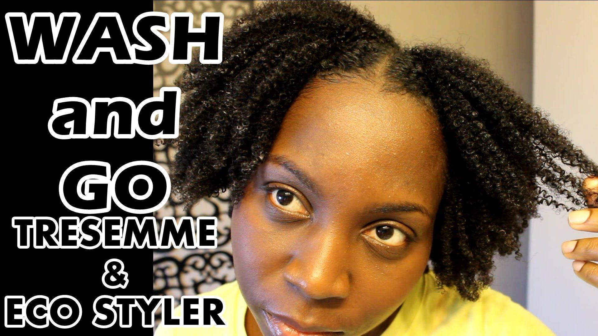 Wash and Go | 4B 4C Natural Hair | Tresemme Natural and Eco Styler ...