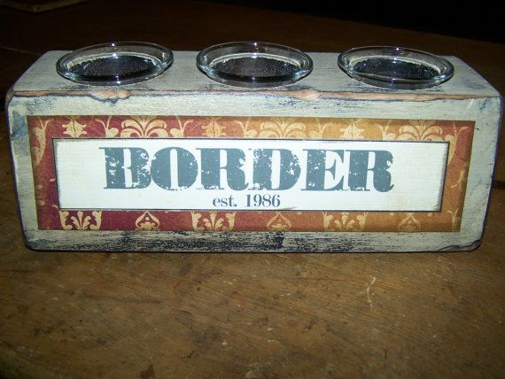PERSONALIZED 10 Wooden Candle Holder by bethborder on Etsy, $25.00