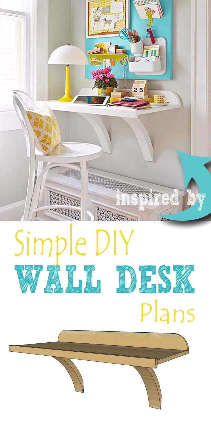 build a simple diy wall desk to create a functional office on beautiful home desk organization ideas make comfortable what it will do for you id=12945