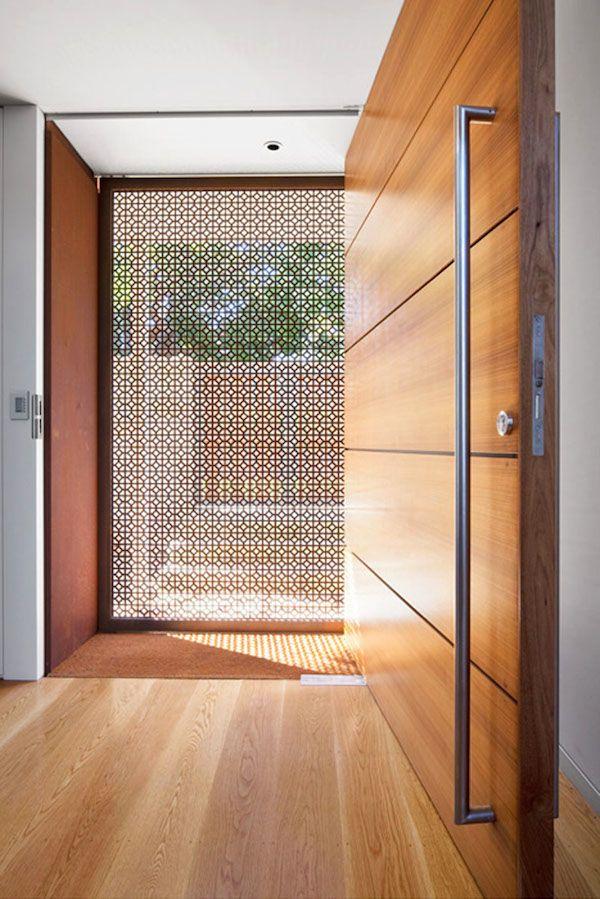 Modern Architecture Entrance Door Design Contemporary House