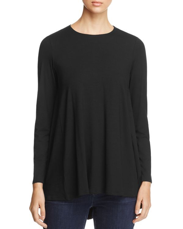 Eileen Fisher Crewneck High/Low Top