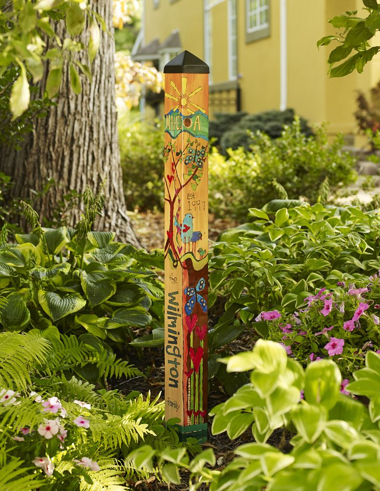 NEW 4\' Custom Family Garden Art Pole | crafts | Pinterest | Family ...