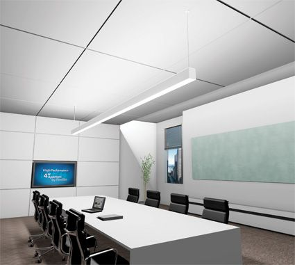 Finelite Hp4 Conference Room Corporate Interiors Lighting Inspiration Ceiling Design