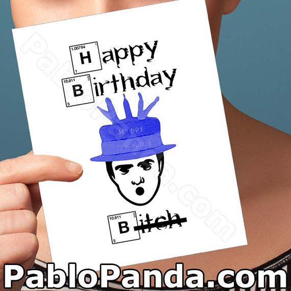 Funny Birthday Card Breaking Bad Walter White By Pablopanda Happy