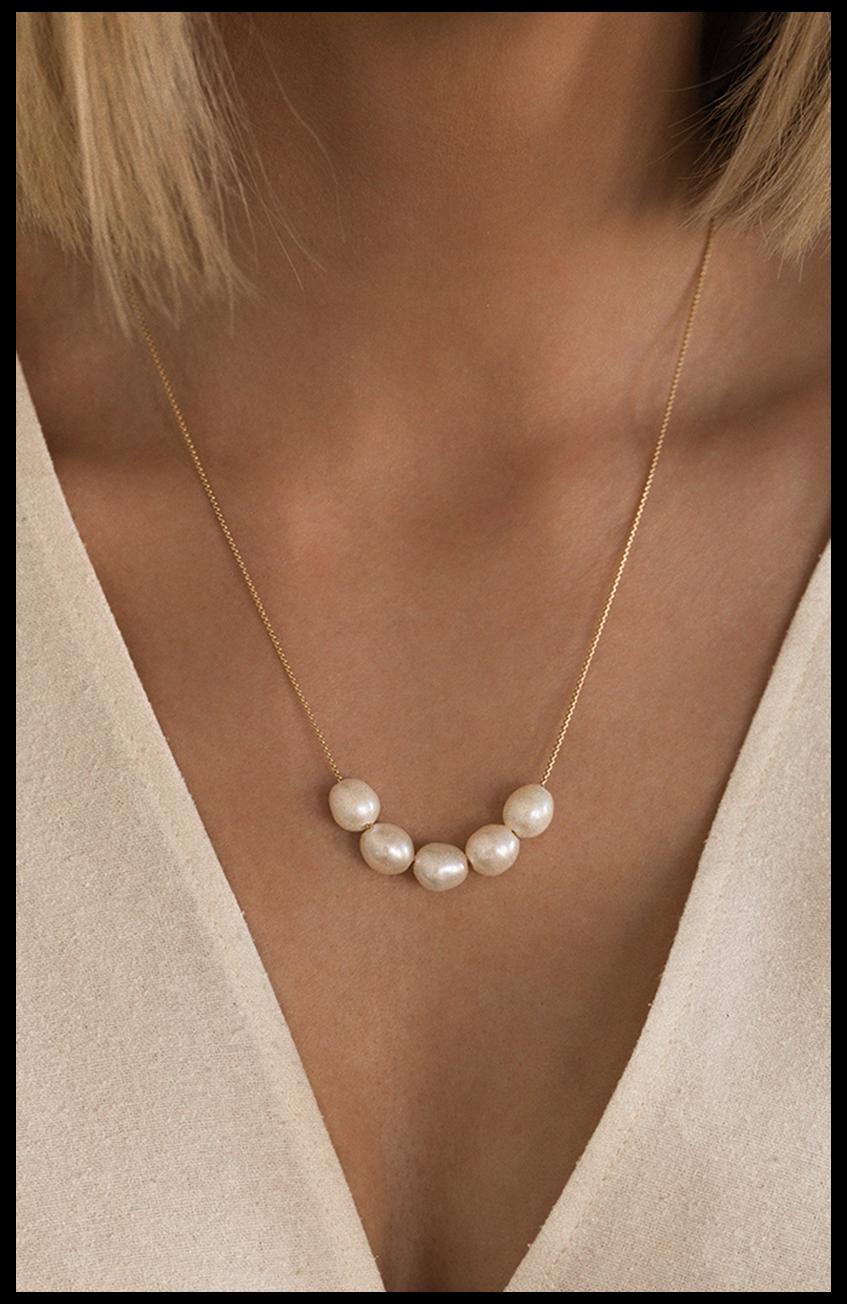Pearl Earrings Pearl Jewellery Contemporary Pearl Necklace Gold Plated Pearl Necklace Pearl Necklace 14ct Gold Plated Rose Gold
