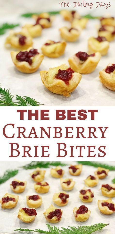 Cranberry Baked Brie Bites #cranberrybriebites