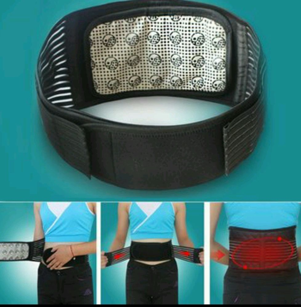 Self Heating Magnetic Therapy Back Support Brace Detachable Infrared Pain Relief