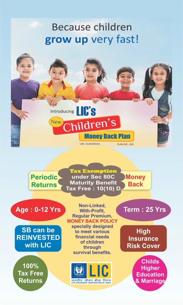 LIC's Children's Money Back Plan Life insurance quotes