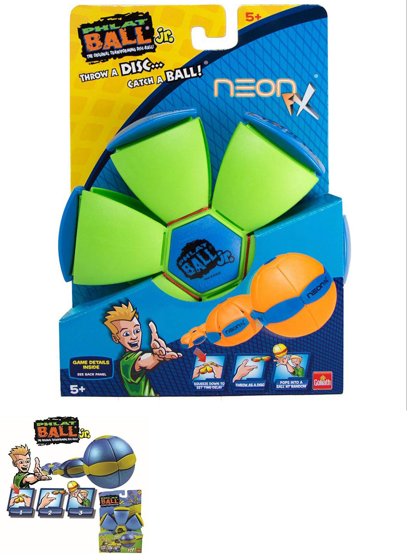 Balls Frisbees and Boomerangs 19017  New Goliath Phlat Ball Jr Neon Fx  Green Free Shipping -  BUY IT NOW ONLY   10.19 on  eBay  balls  frisbees   boomerangs ... 9cff7d2b12f9