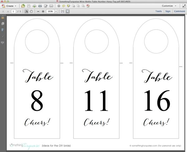 How To Make Free Wine Bottle Table Number Hang Tags Wine Bottle Table Wine Bottle Tags Template Wine Bottle Tags