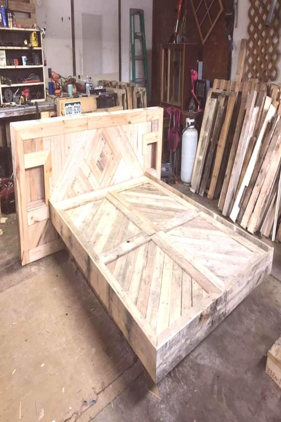 #stunning #upcycled #progress #creative #indoor #check #work #stai #out #the #in #a A stunning upcycled work in progress, check out the creative staiYou can find Platform beds and more on our website.A stunning upcycled work in ...
