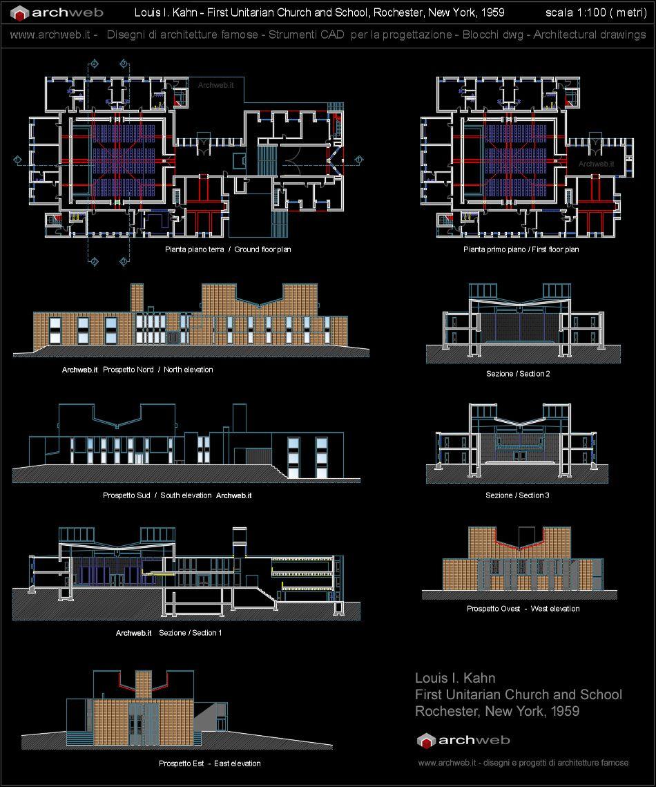 First Unitarian Church And School, Rochester NY (1959) | Louis Kahn |  Archweb