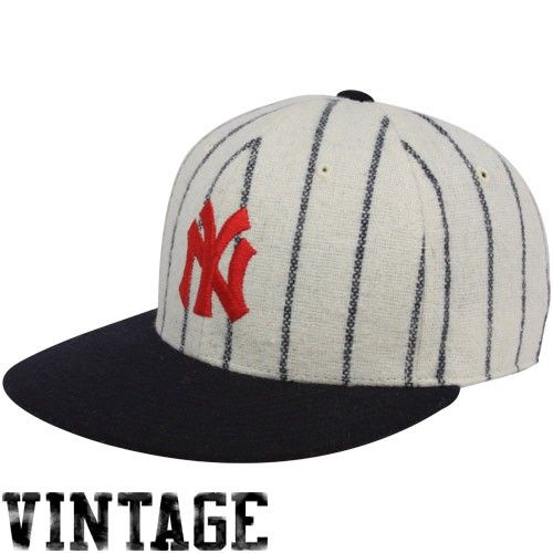 9e47d5bf0f907 New York Yankees Natural Pinstripe 1915 Throwback Cooperstown Fitted ...