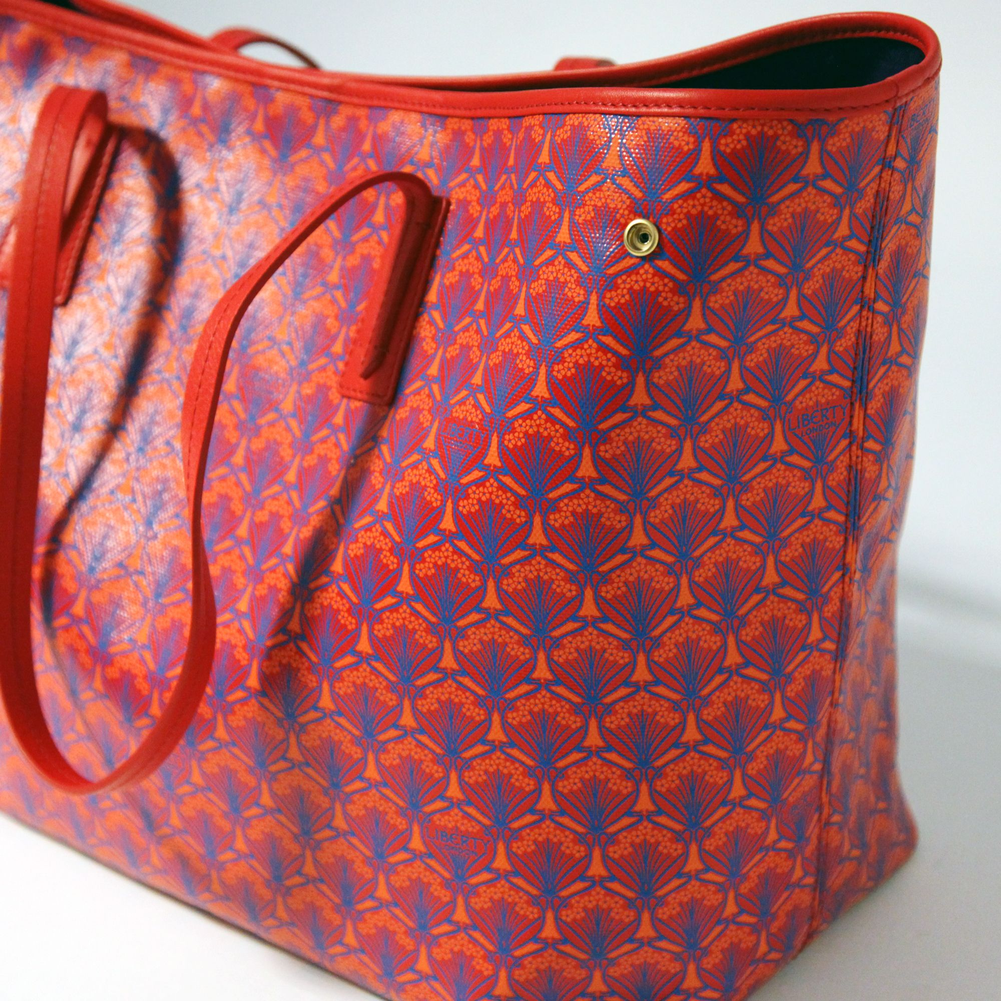 Red Iphis Liberty Tote Bag From The London Collection Get Yours At Co Uk