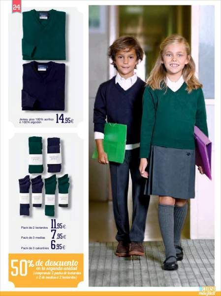 Suficiente Uniformes escolares 2014 de El Corte Inglés | [참고] 크로키  IS46