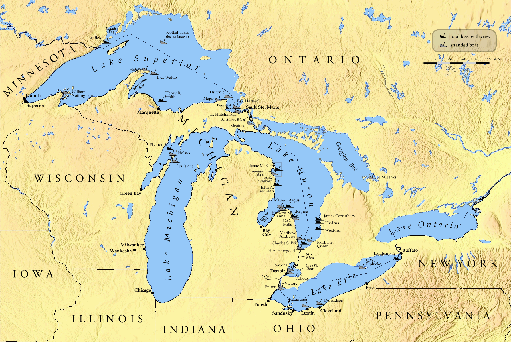 Great Lakes Storm of 1913 - Wikipedia, the free encyclopedia ... on