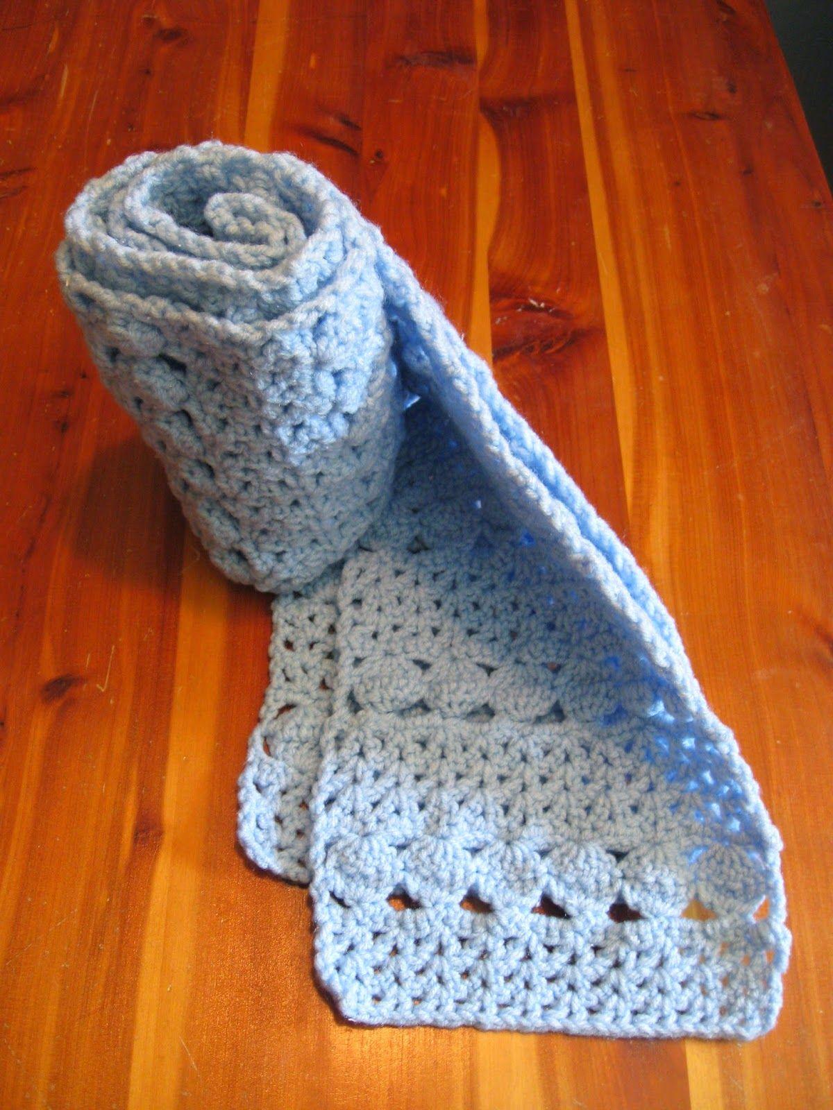 Haven Cottage Crafts: Cozy Blue Scarf - free crochet pattern ...