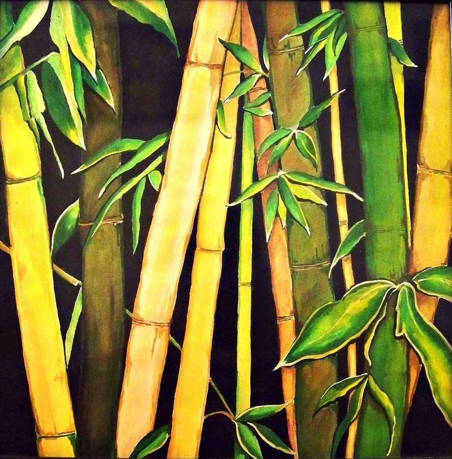 Bamboo Leaves Bamboo Art Painting Bamboo Art Art Painting