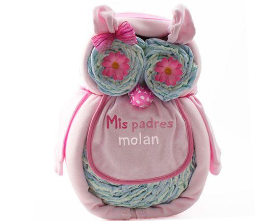 Lechuza de pa ales bouquet ropa para recin nacidos regalos bebes nacimientos canastillas - Canastillas para bebes ...