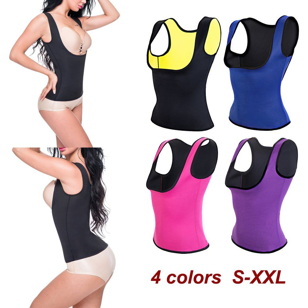 30f3472d57 Jeremy Martin Women Neoprene Shapewear Push Up Vest Waist Trainer Cincher  Slimming Thermo Sauna Sweat Body Shaper Corset Blue Vest S -- Click image  to ...