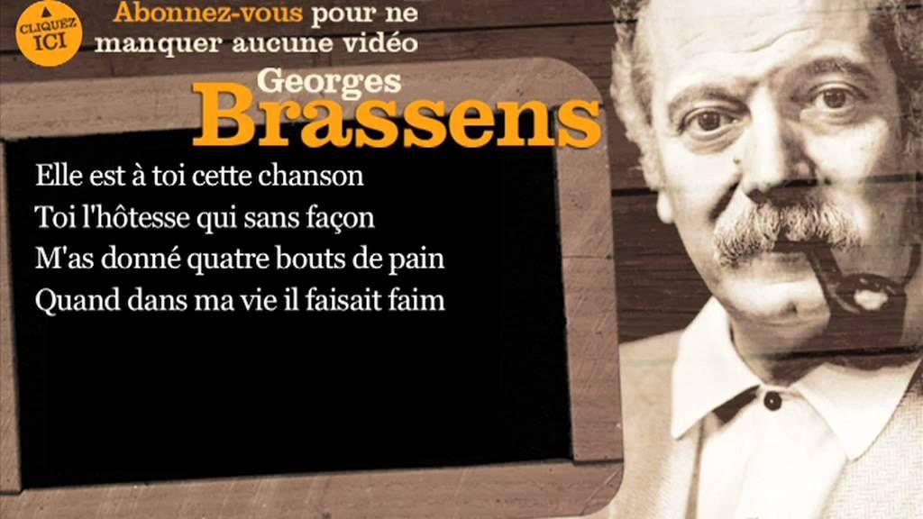 Georges brassens chanson pour l 39 auvergnat paroles - Les amoureux des bancs publics paroles ...