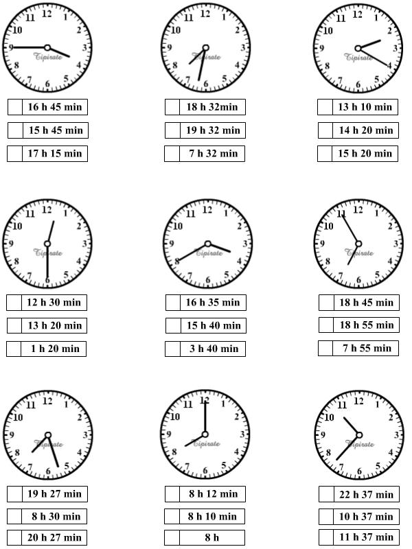 exercices pour apprendre lire l 39 heures cm1 pinterest. Black Bedroom Furniture Sets. Home Design Ideas