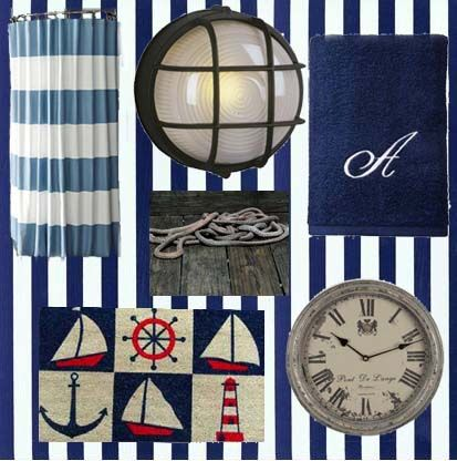 17 Best images about Red white and blue Nautical themed bathroom – Nautical Themed Bathroom