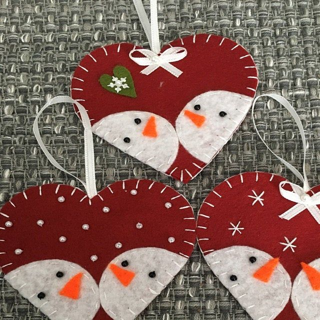 Fridge Christmas Felt Ornaments Kitchen Decor