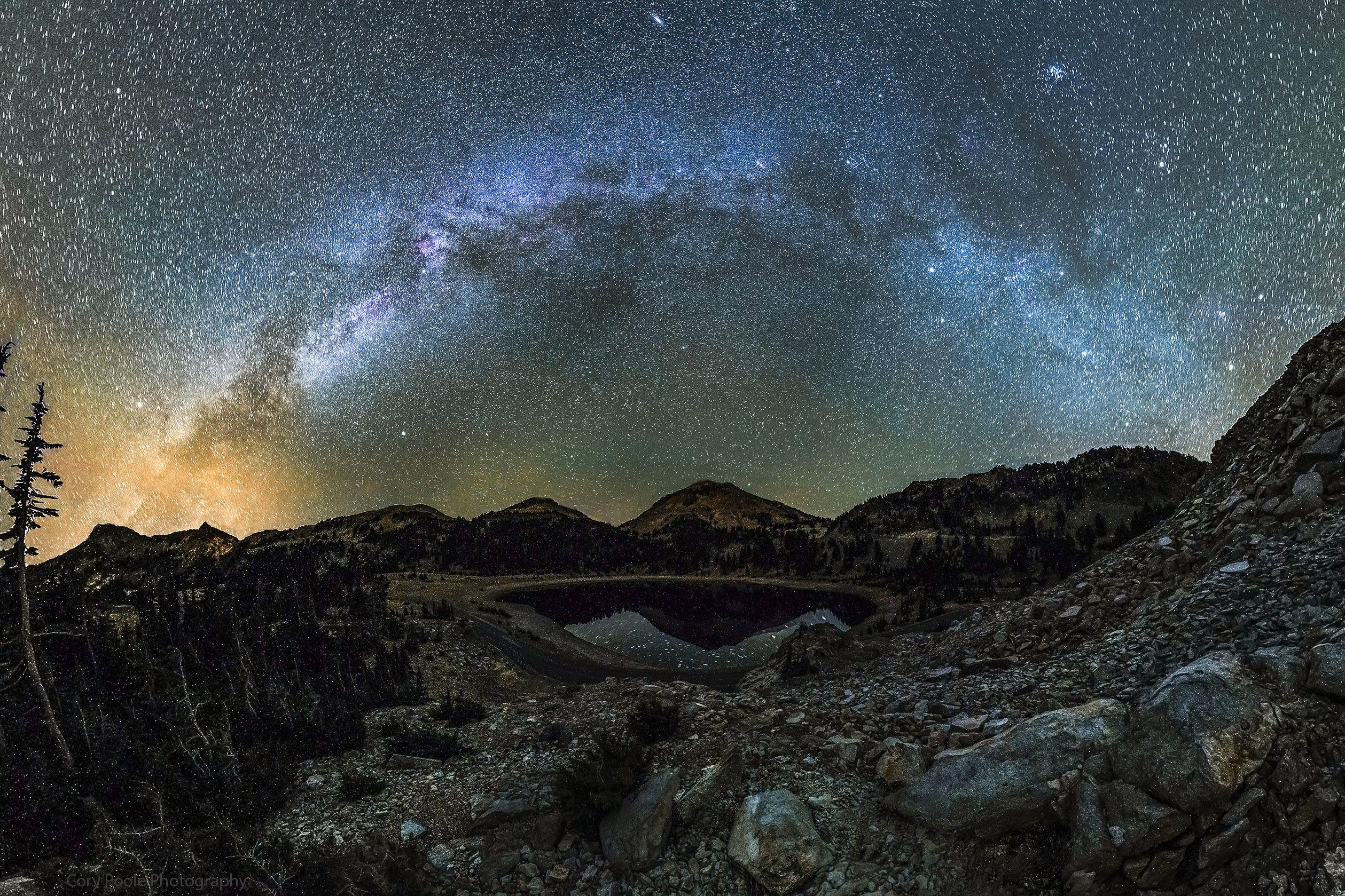 The Milky Way Lassen volcanic national park, Lake helen