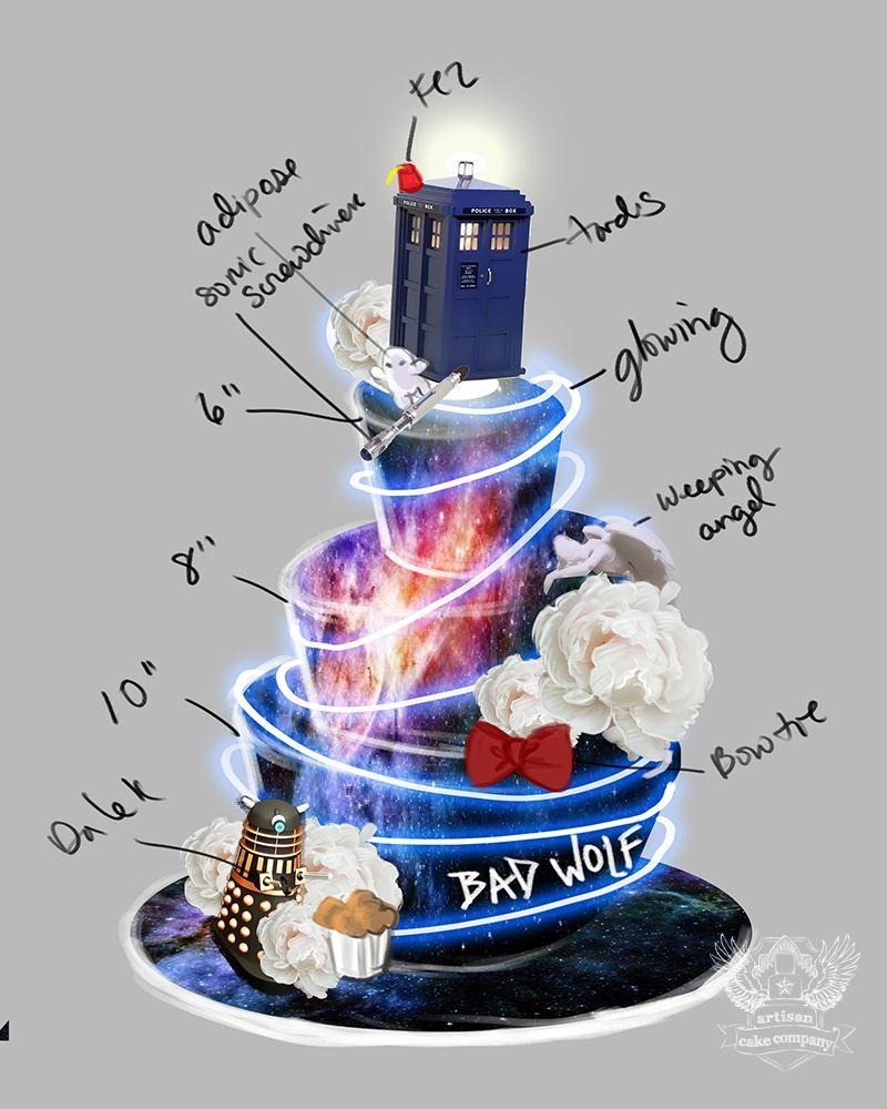 Doctor Who Themed Wedding Cake Artisan Cake Company ...