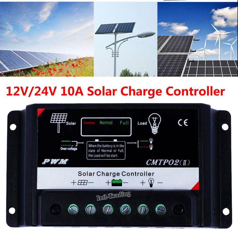 999 Gbp Pwm 10a Solar Panel Charge Controller 12v 24v Battery Regulator For Rv Boat Car